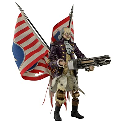 "NECA Bioshock Infinite - Benjamin Franklin 9"" Action Figure: Toys & Games"