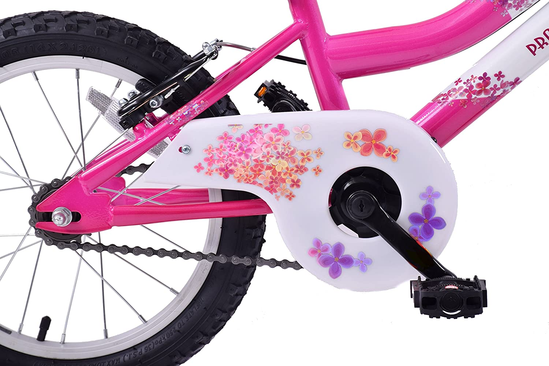 Professional Sparkle 16 Wheel Girls Kids Mountain Bike Single Speed White//Pink Age 5 years