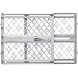 North States Paws Portable Petgate in Light Grey for Dogs