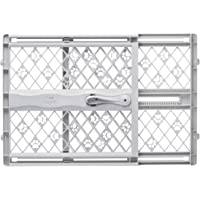 """North States MyPet Paws 42"""" Portable Pet Gate: Expands and Locks in Place with no Tools. Pressure Mount. Fits 26""""-42"""" Wide (23"""" Tall, Light Gray)"""