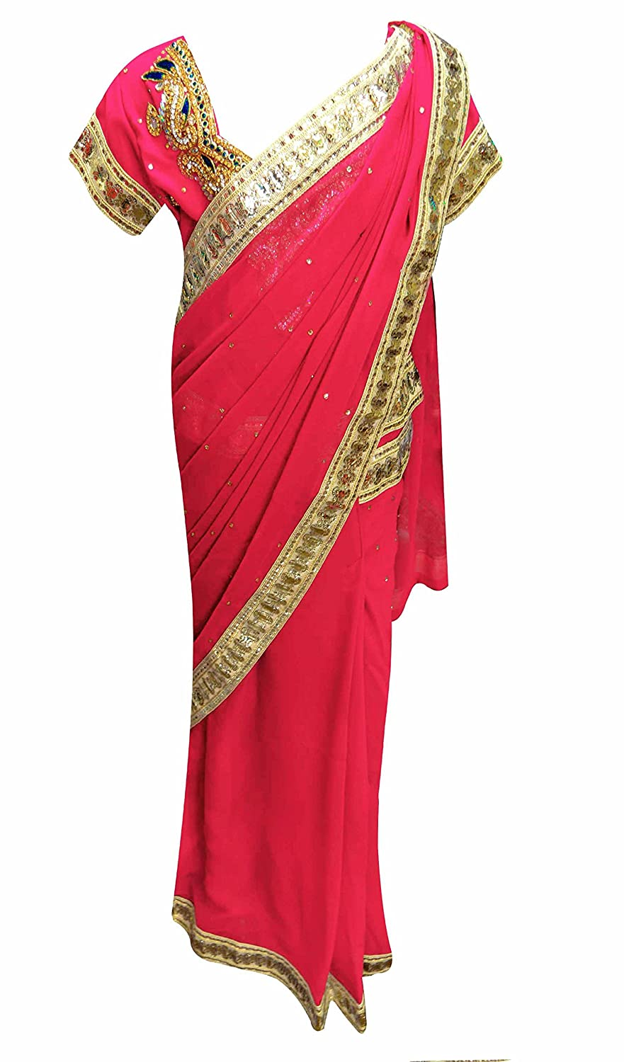 Kids Indian girls ready made easy to wear Saree for Bollywood theme party 1217 Children Saree