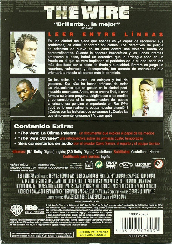 The Wire (Bajo Escucha) - Temporada 5 [DVD]: Amazon.es: Andre Royo, Deirdre Lovejoy, Dominic West, Clarke Peters, John Doman, Domenick Lombardozzi, ...