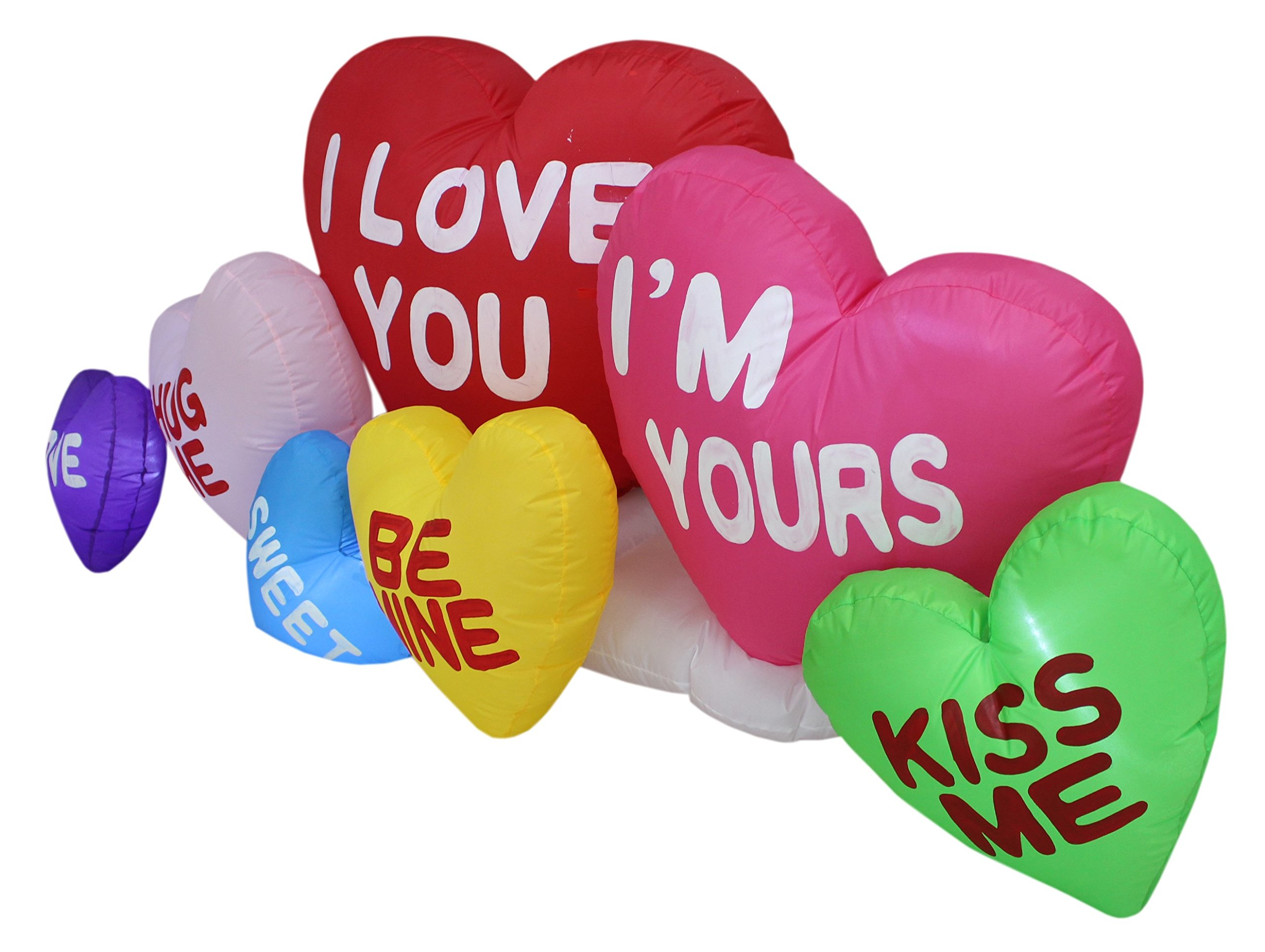 9e57f8f6813f9 BZB Goods 6 Foot Long Valentine's Day Inflatable Love Hearts, Romantic  Sweet Valentines Gift for Couples, Idea LED Lights Decor Outdoor Indoor  Holiday ...
