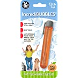 Pet Qwerks Incredibubbles Peach Flavor for Cats & Dogs - Long Lasting Bubbles with Non-Toxic Formula, Avoids Boredom…