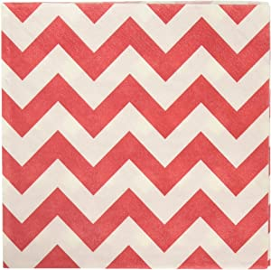 Amscan Disposable, Chevron Beverage Napkins, One Size 16ct Party Supplies, 5