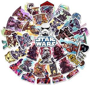 MooFun Star Wars Waterproof Vinyl Stickers 50 PCS for Laptops Car Decals Party Supplies Decor