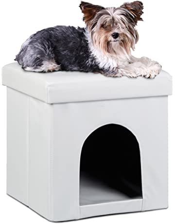 Relaxdays 10019046_46 - Casa para Perros/Gatos, 38 x 38 x 38 cm,