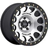 "Method Race Wheels 105 Beadlock Machined With Matte Black Ring 17x9"" 5x5"", 38mm offset 3.5"" Backspace, MR10579050338B"