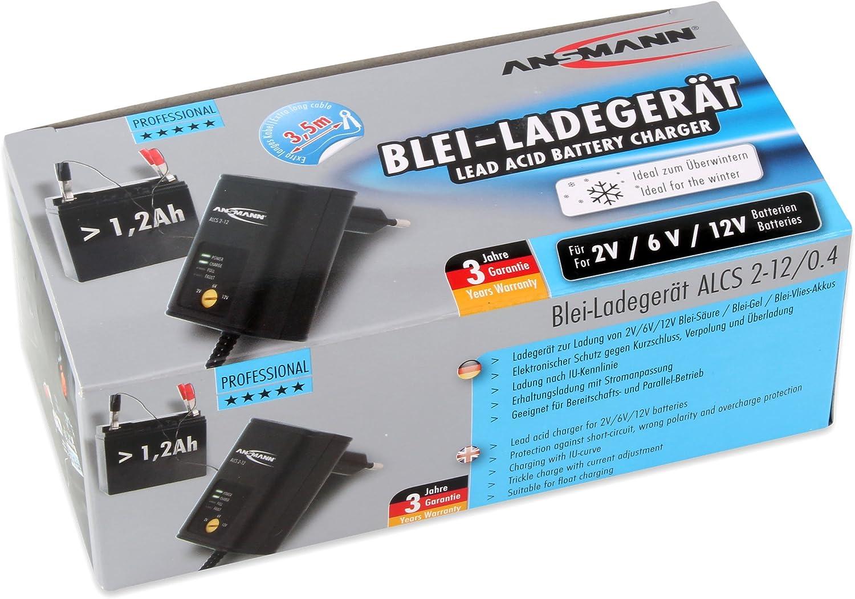 Rasenm/äher Boote usw. f/ür Oldtimer Roller ANSMANN Batterie Ladeger/ät 2V // 6V // 12V mit Erhaltungsladung zum Laden /& Einlagern von Blei Akkus Motorrad Gel, Wet, MF, VRLA, AGM