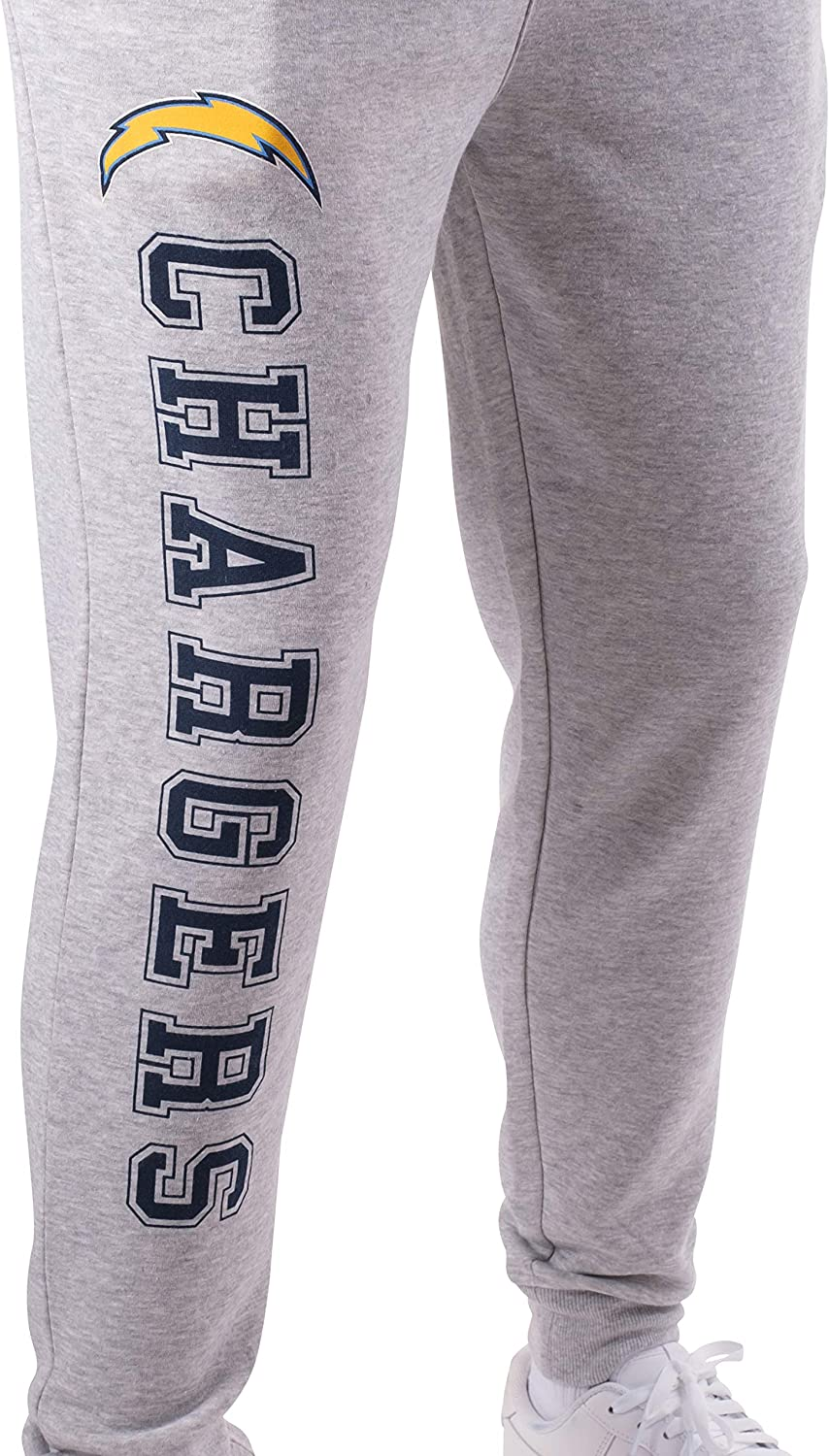 Medium Heather Gray 19 Ultra Game NFL Los Angeles Chargers Mens Active Jogger Sweatpants