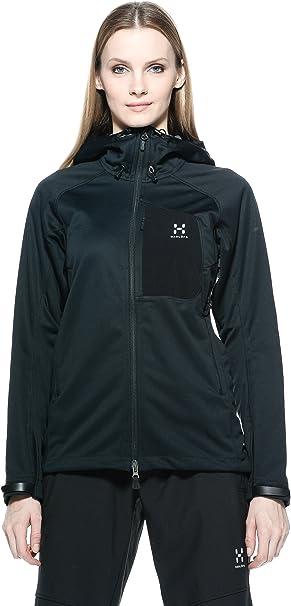 Haglöfs Ulta Q Hood – Damen Jacke mit Kapuze XS Schwarz