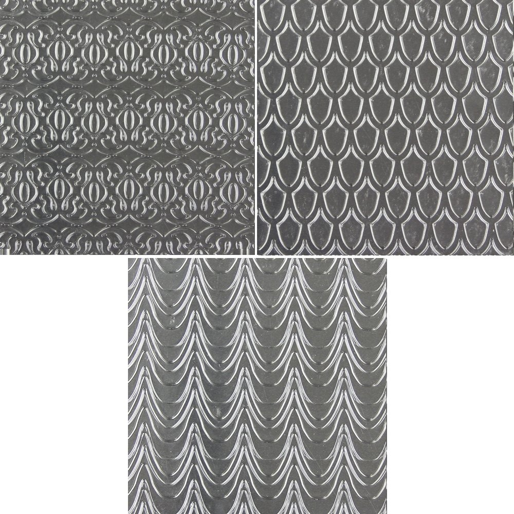 Sweet Elite Tools Fanciful Pattern Texture Sheets - Set of Three Unique Patterns Impression Mats By Marina Sousa