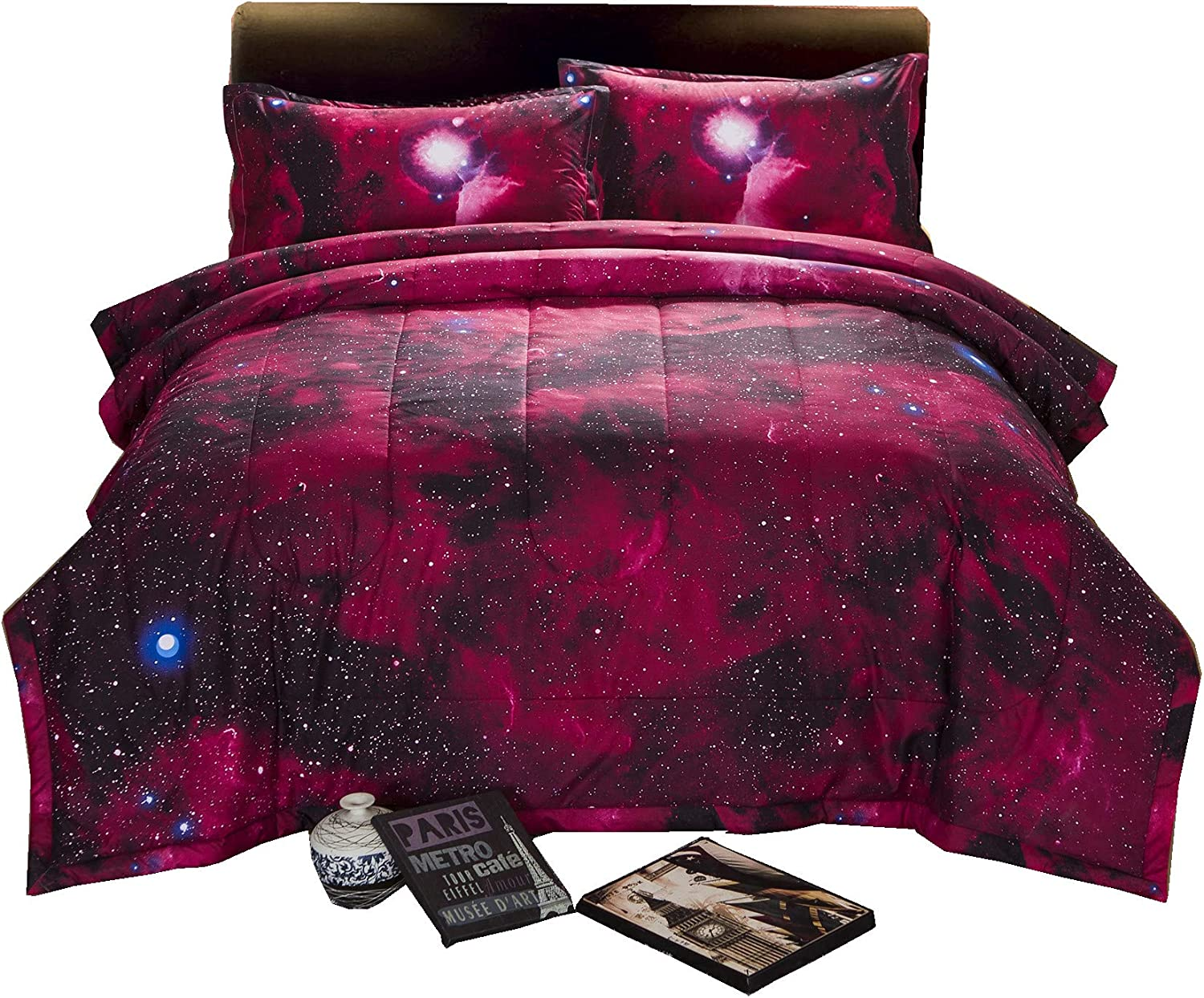 A Nice Night 3D Galaxy Blanket Comforter Bedding Sets Home Textile with Comforter Pillowcase