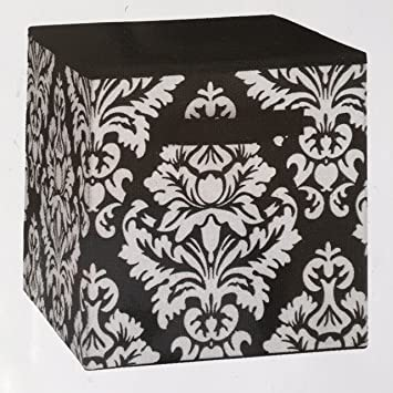 Lovely System Build Cube Storage Fabric Drawer Damask Pattern