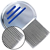 Harbre 3 pack Professional Quality Stainless Steel Reusable Terminator Lice Comb