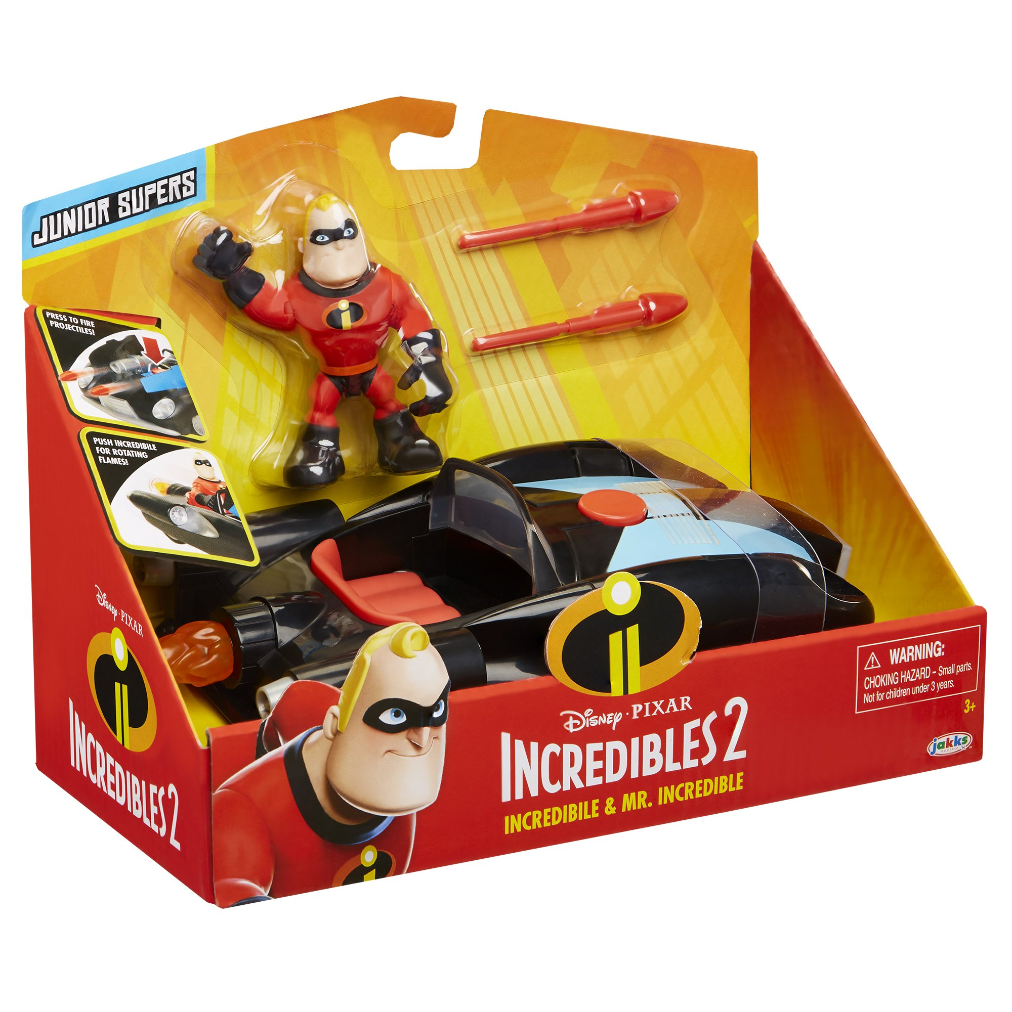 The Incredibles 2 Incredibile Car & Mr. Incredible Action Figure 2-Piece Set, Black Car and Red Mr. Incredible Figure, Medium by The Incredibles 2 (Image #5)