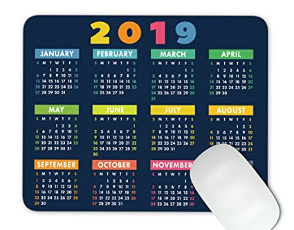 Gaming Calendar 2019 Amazon.: Euger 2019 Calendar Mouse Pad Anti Slip Personalized
