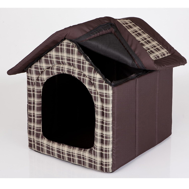 hobbydog budbwk11 para perros Gato Cueva Perros Gato cama Perros Casa Dormir Espacio para perros perro casa Caseta de S XL, braun / kariert, ...