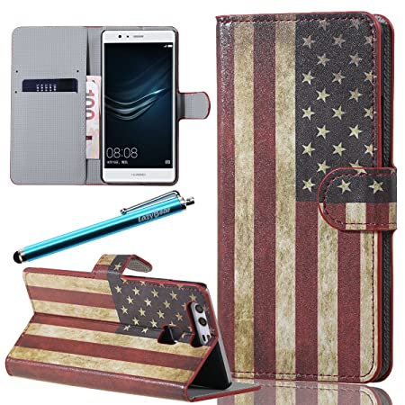 3c931b4300 LazyBear 2 in 1 Cellphone Case for Huawei P9 (The Star-Spangled ...