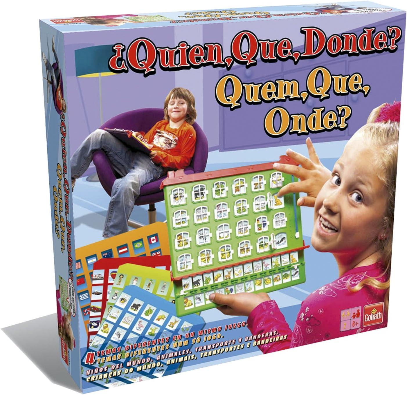 Goliath - ¿Quién, Qué, Dónde?, Juego de Mesa (70.437): Amazon.es: Juguetes y juegos