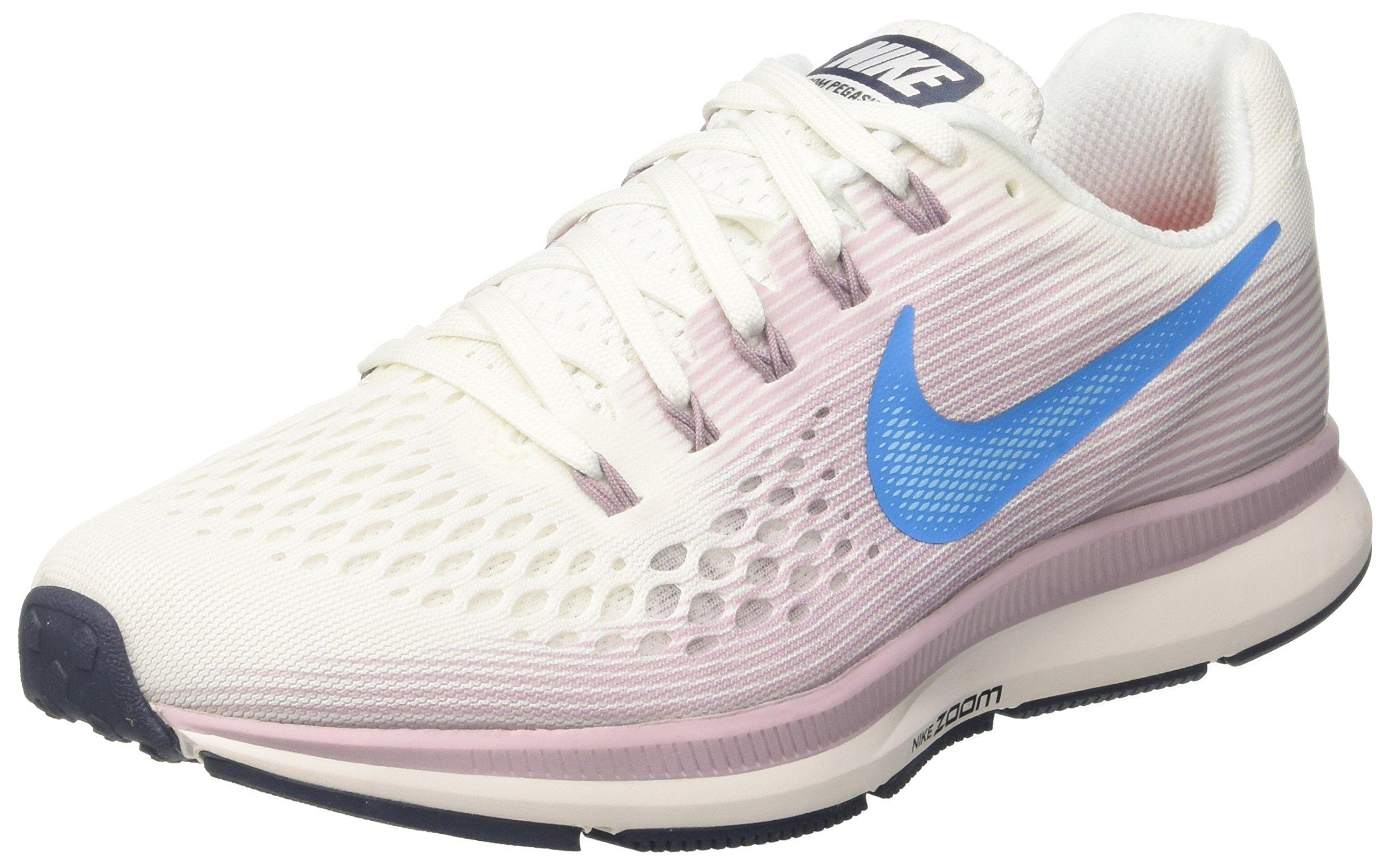 Nike WMNS Air Zoom Pegasus 34 880560-105 White/Rose/Blue Women's Running Shoes (6.5)