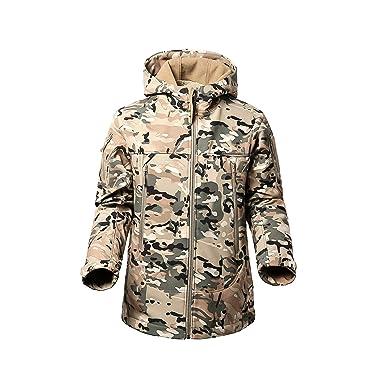 c0e9de0843a92 FLYING EAGLE Men's Tactical Jacket Army Outdoor Coat Camouflage Softshell  Fleece Jacket Hunting Jacket