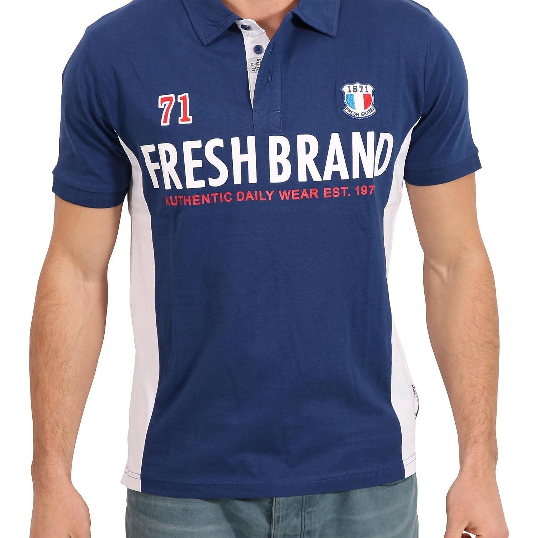The Fresh Brand - Polo - para Hombre Azul L: Amazon.es: Ropa y ...