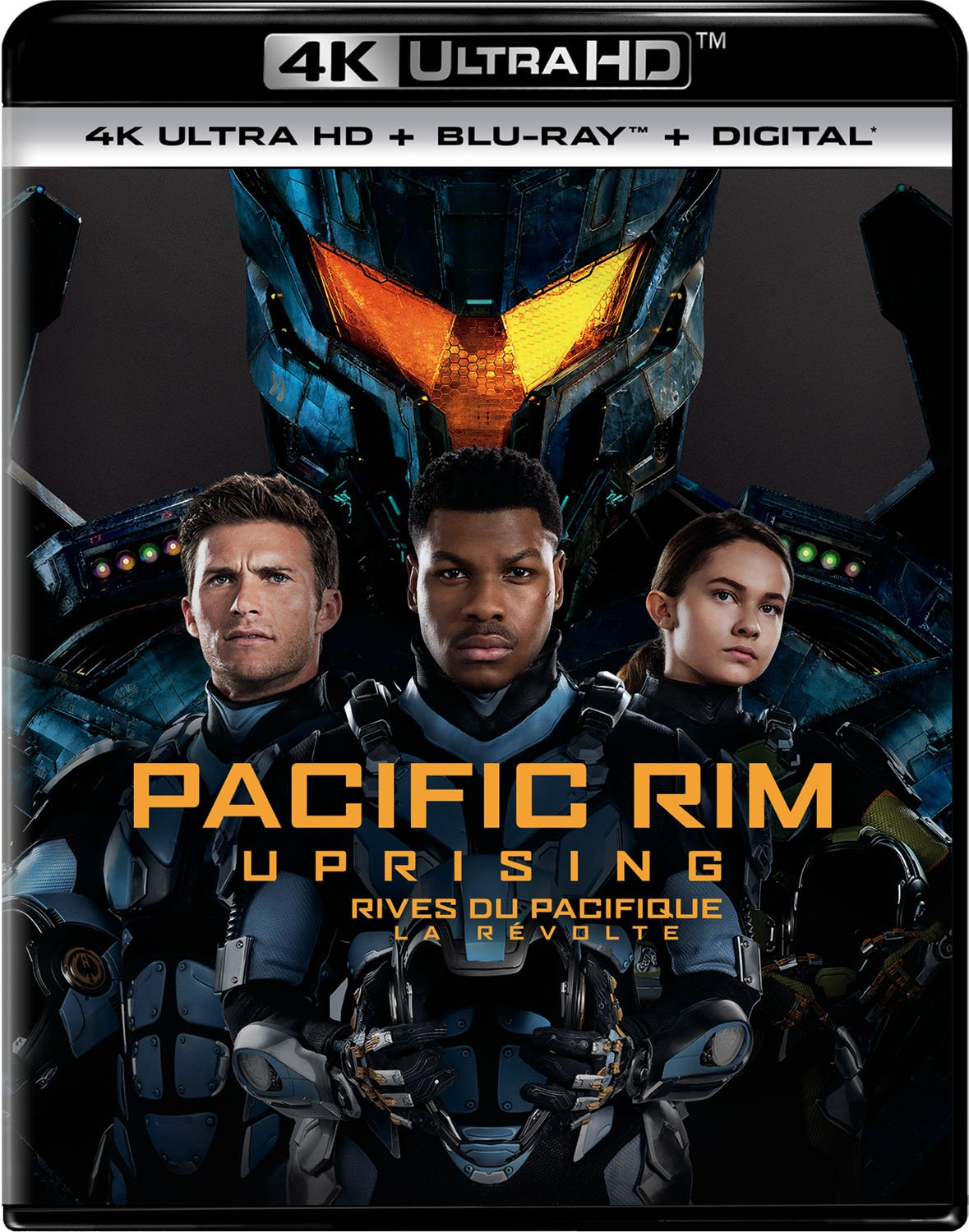 Pacific Rim Uprising [4K Ultra HD + Blu-ray + Digital] (Bilingual) John Boyega Scott Eastwood Charlie Day
