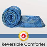 Divine Casa Microfiber All Weather Lightweight Single Comforter/Blanket/Quilt/Duvet, Abstract- Blue and Nevy Blue (110 GSM)
