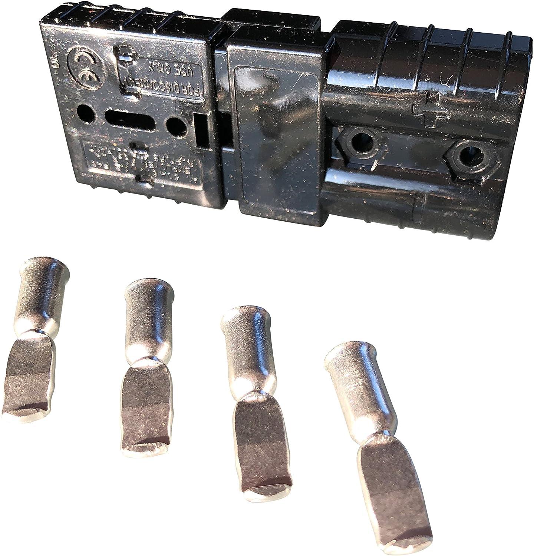 Kit de connecteur Chariot /él/évateur pour c/âble de batterie Prise de charge 50A 16 mm/² Connecteur de c/âble gris
