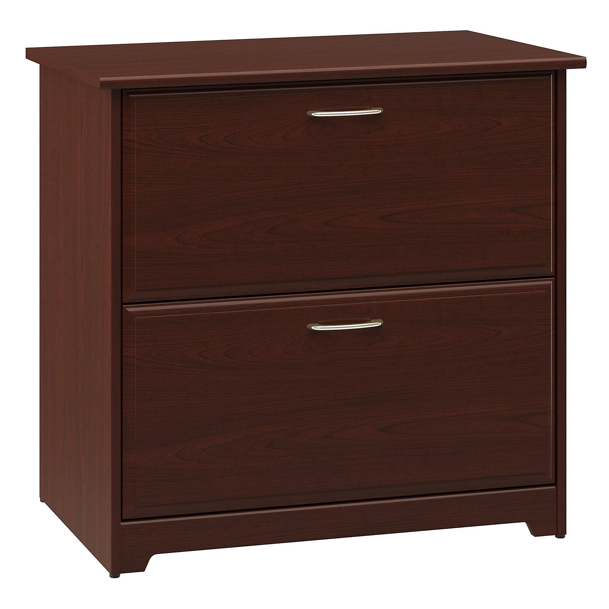 Bush Furniture Cabot Lateral File Cabinet in Harvest Cherry