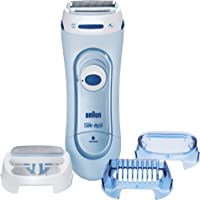 Braun Silk-épil Lady Shaver 5160 – Wet & Dry, Cordless use with battery + 3 attachments