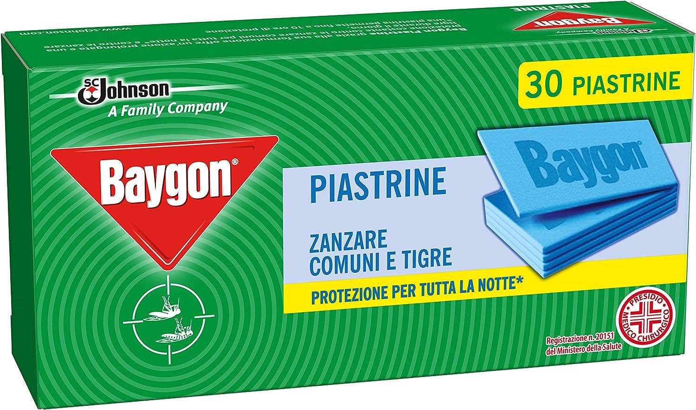BAYGON Piastrine mosquitos TRM–30piezas