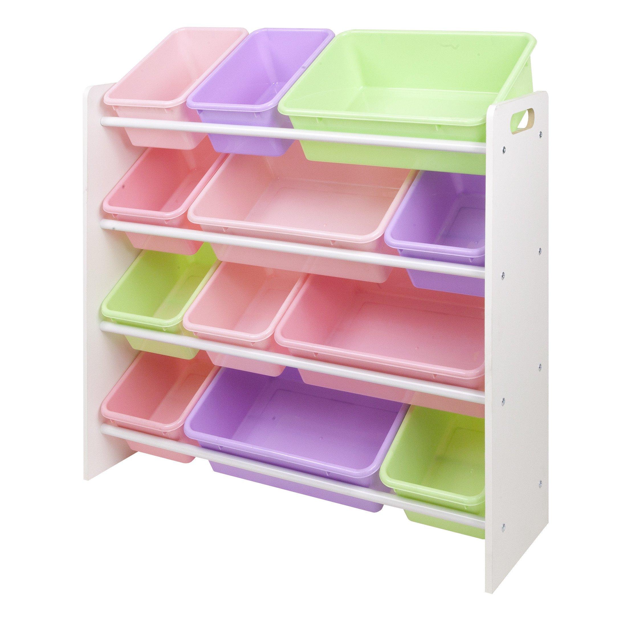 Kid Bin Toy Organizer, Kids Toy Storage (Pastel) by Sandusky