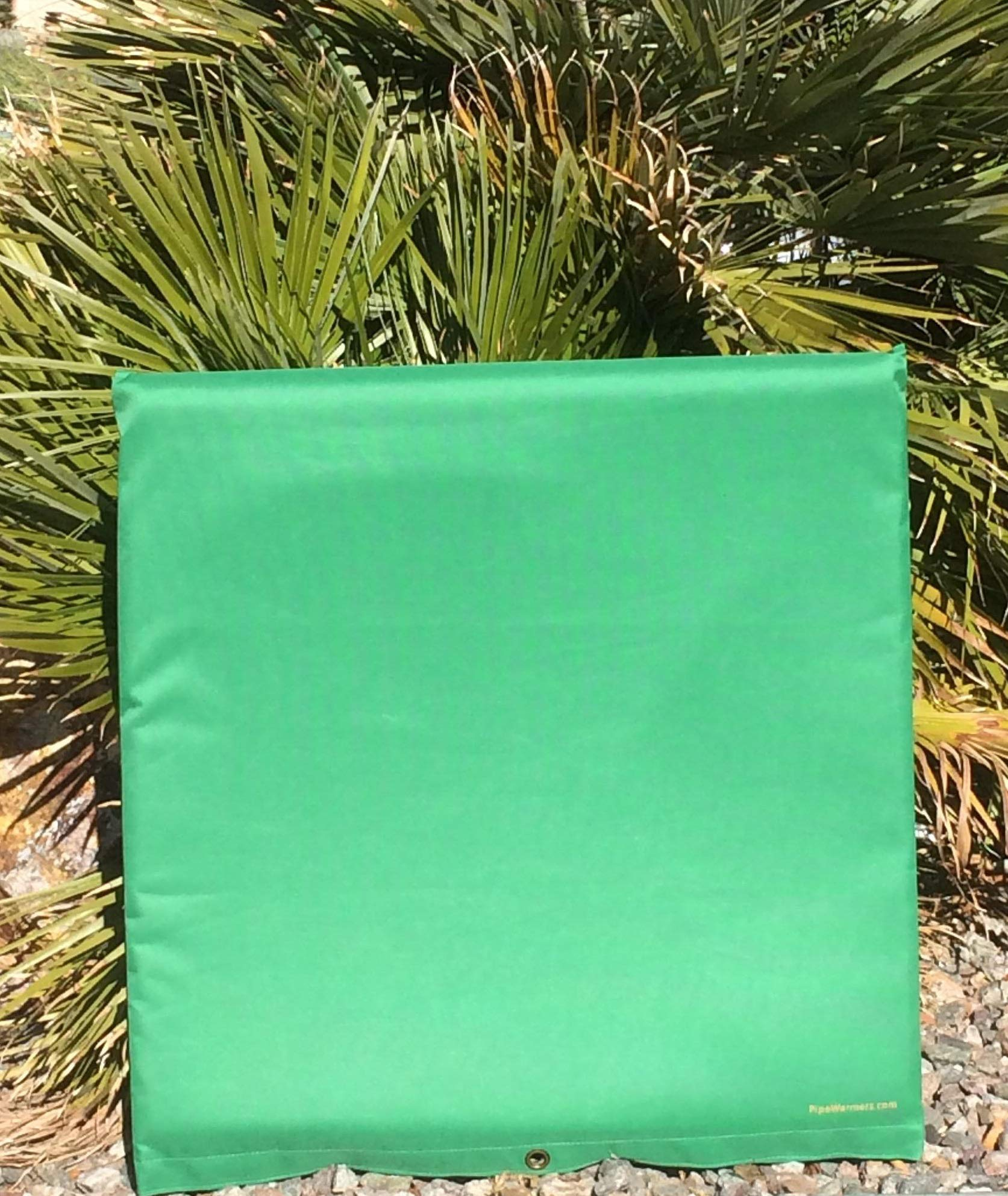 Insulation pouch for outdoor Pipes (24 x 24, green) by PipeWarmers