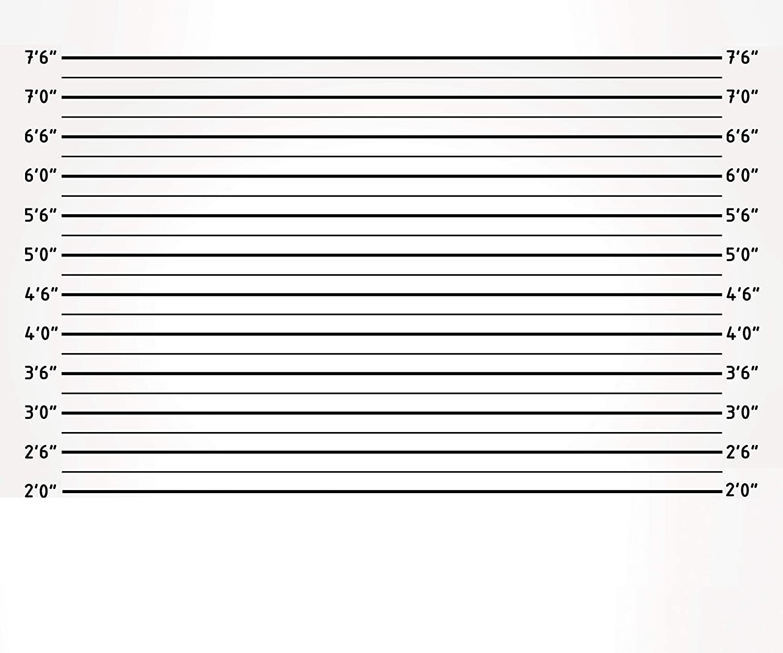 10x8フィート マグショット ホワイト 警察 ラインナップ 絵画クロス カスタマイズ可 写真背景 独身最後のパーティー 背景 スタジオ小道具   B07JF12XD6