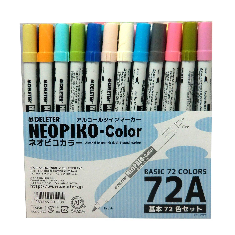 Derita Alkohol Marker Neopiko Farbe 72 Farben Ein Satz