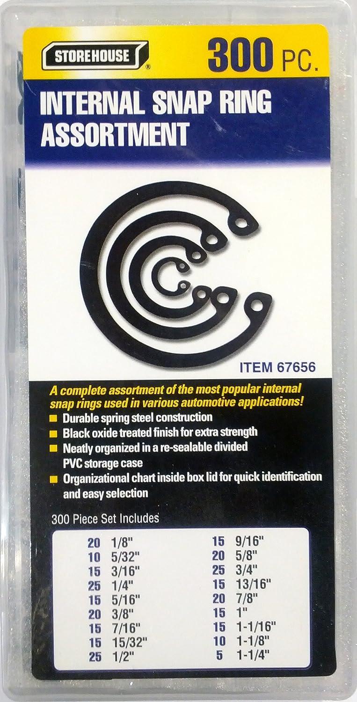 Amazon retaining rings fasteners industrial scientific 300 piece internal retaining ring assortment arubaitofo Images