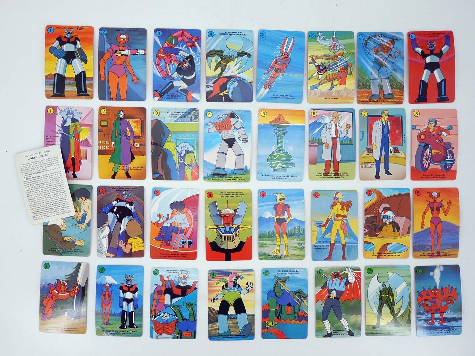 Mazinger Z. Baraja Infantil Completa 32 Cartas Naipes + ...
