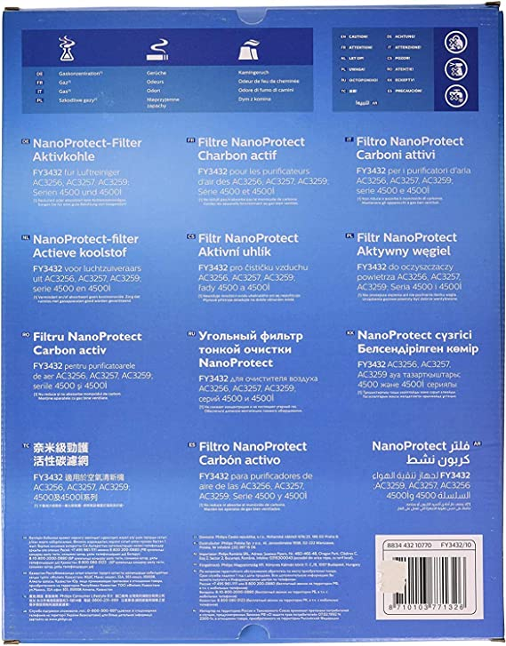 Philips FY3432/10 Filtro NanoProtect para purificador AC3256/10 ...