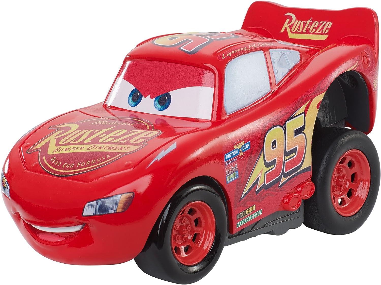 Cars ¡A todo gas! Vehículo Rayo McQueen, coche de juguete (Mattel DVD32): Amazon.es: Juguetes y juegos