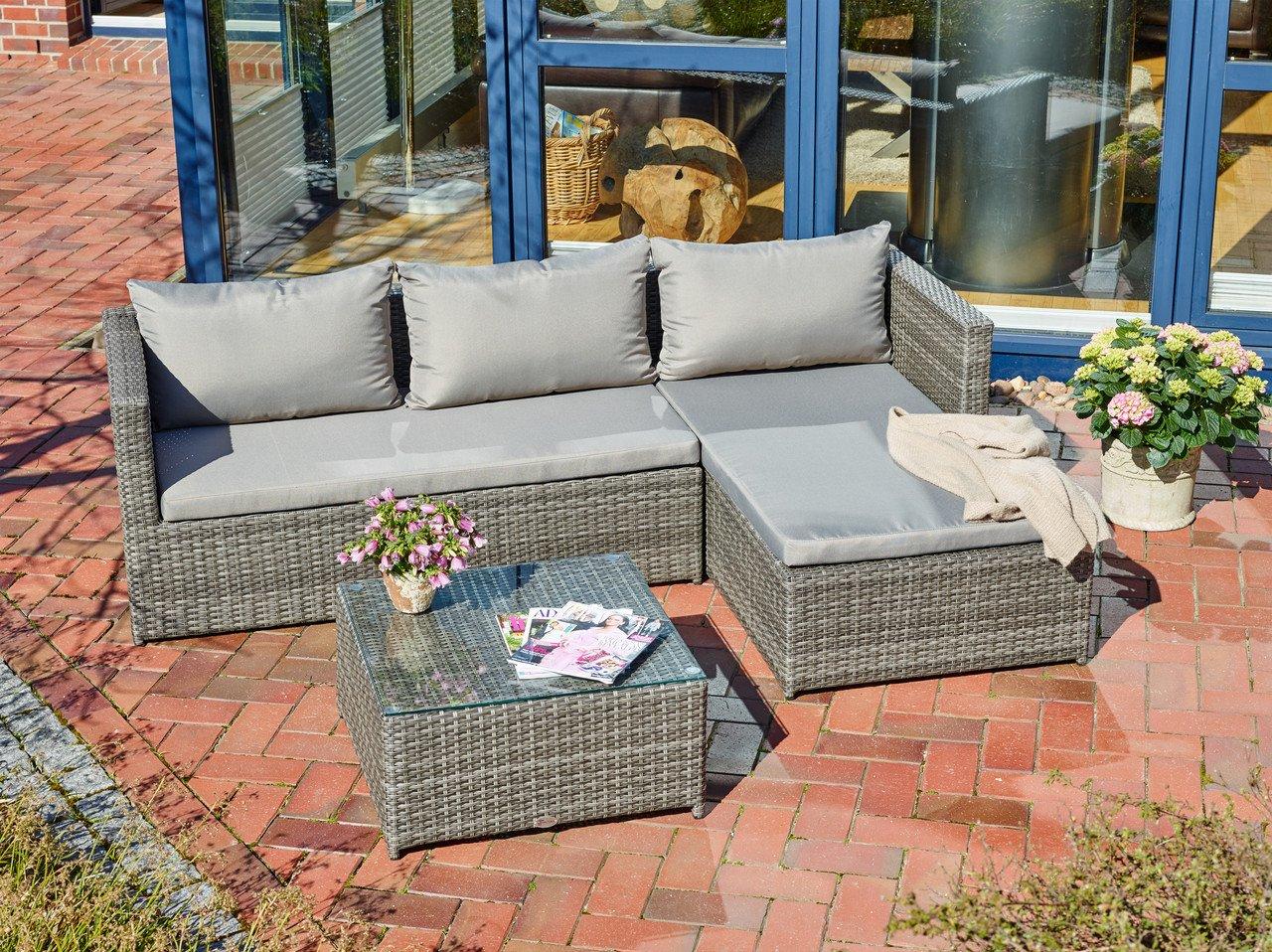 Destiny Lounge Turin 2 Gartenmöbelset Loungeset Balkonset Sitzgruppe Gartenmöbel