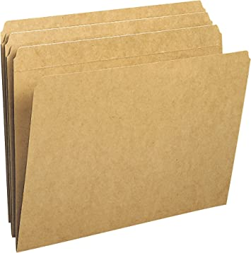 Smead File Folder Manila Letter Size Reinforced Straight-Cut Tab 100 Per Box
