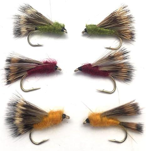 Pesca con mosca Duna Hog tamaño 10 Pack de 6 Reino Unido paquete # 177: Amazon.es: Deportes y aire libre
