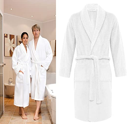 Crazy Girls Mens Bathrobe Luxury Soft 100% Egyptian Cotton with Pockets and Belt  Dressing Gowns Towelling Bath Robe ... 86c139c93