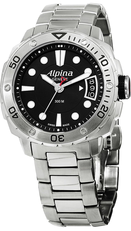 Alpinaレディースal240lb3 V6b Extreme Diverアナログ表示SwissクオーツSilver Watch   B00WILYFSC