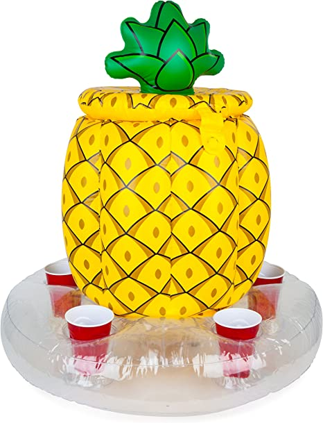 Amazon.com: Bigmouth Inc piña hinchable enfriador: Toys & Games