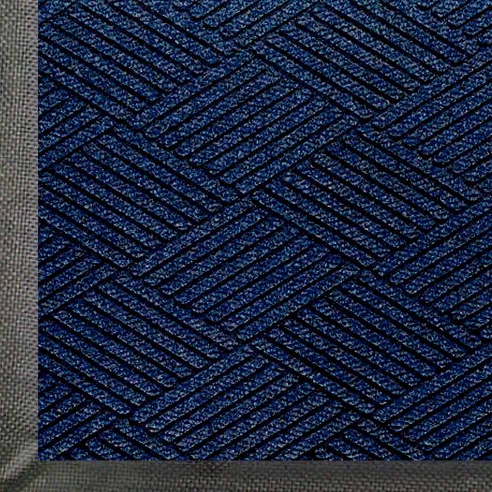 WaterHog Eco Premier | Commercial-Grade Entrance Mat with Diamond Pattern & Rubber Border | Indoor/Outdoor, Quick-Drying, Stain Resistant Door Mat (Indigo, 3x5)