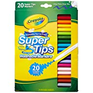 Crayola 58-8106 20CT Super Tips Washable Marker (Pack of 2)