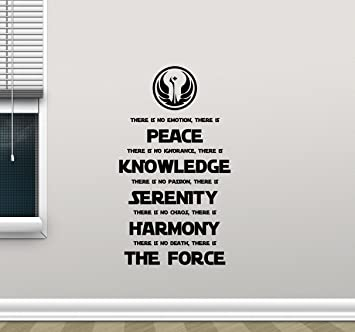 Amazon.com: Star Wars Wall Decal Quote Jedi Code Codex Vinyl Sticker  Cartoons Boy Kids Wall Art Nursery Decor Mural 350xxx: Home U0026 Kitchen